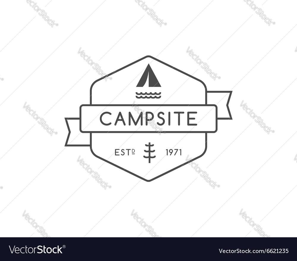 Vintage mountain trekking climbing hiking camping