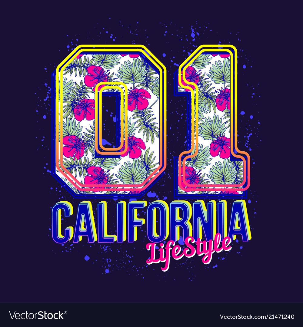California lifestyle print for t-shirt