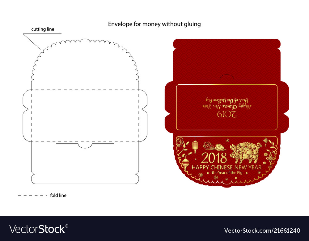 Chinese new year money red packet - ang pau