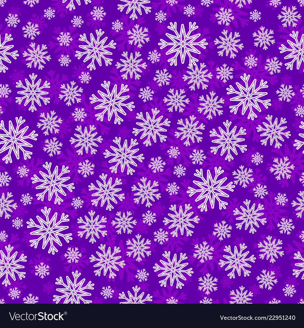 Christmas seamless pattern with white snowflakes