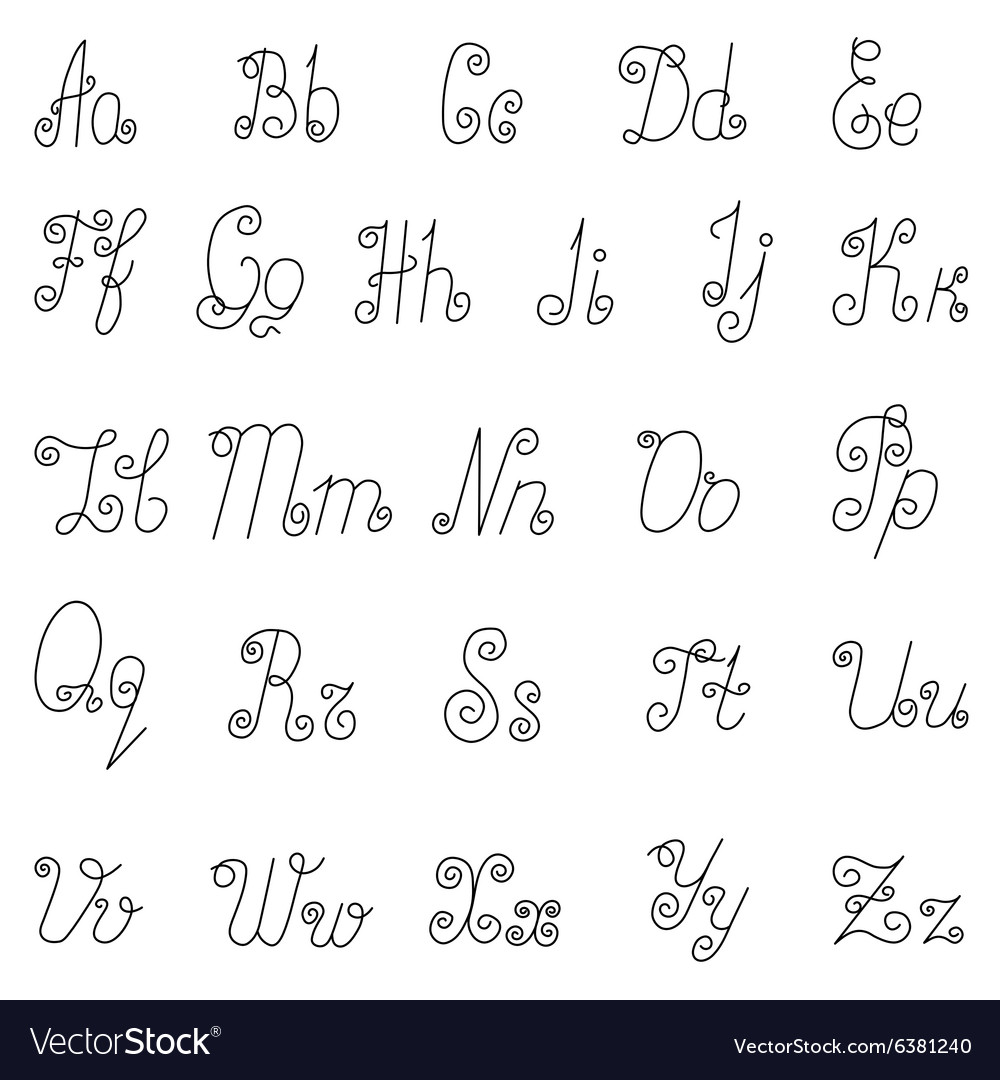 English alphabet icons