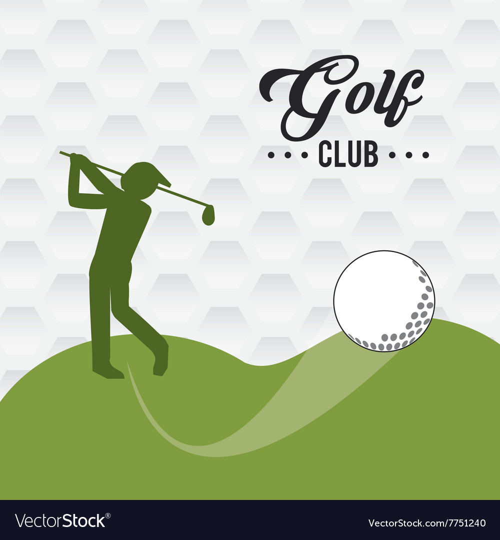 Golf icon design
