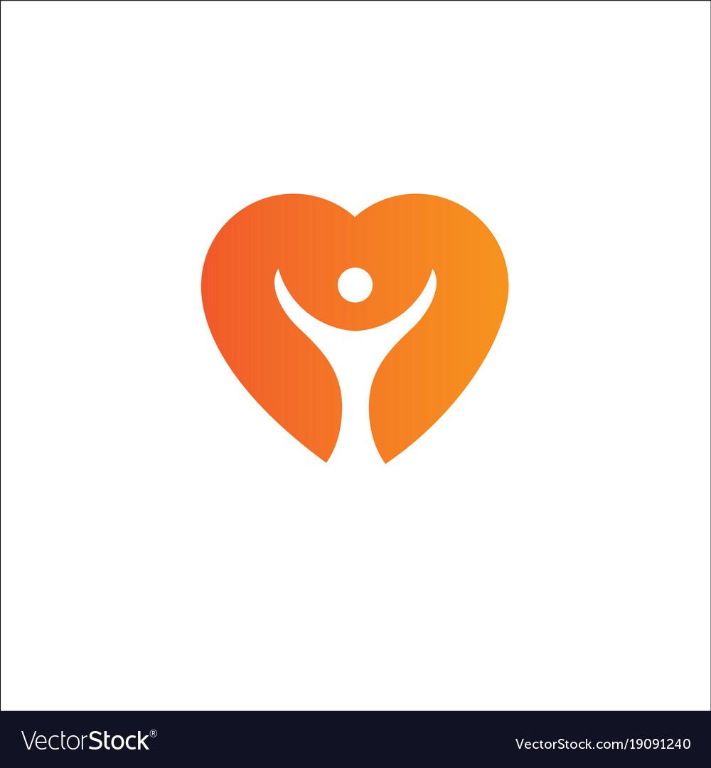 Heart logo templatecardiology medical health care vector image