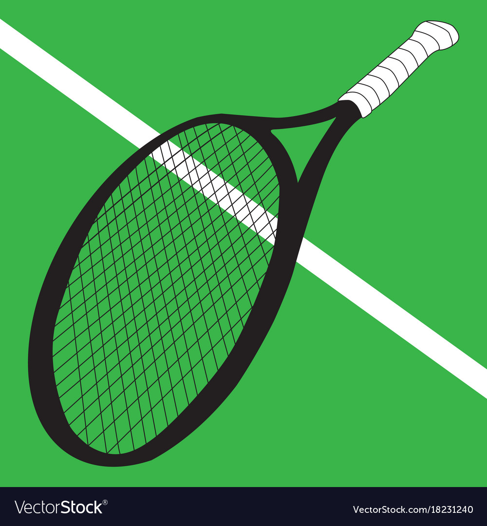 Image of a tennis racket vector image