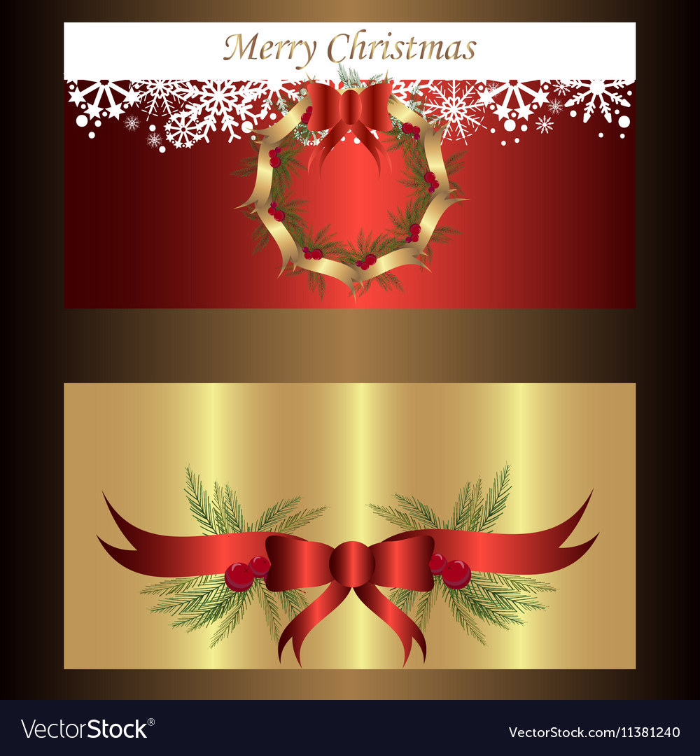 Set of two separated banners for christmas
