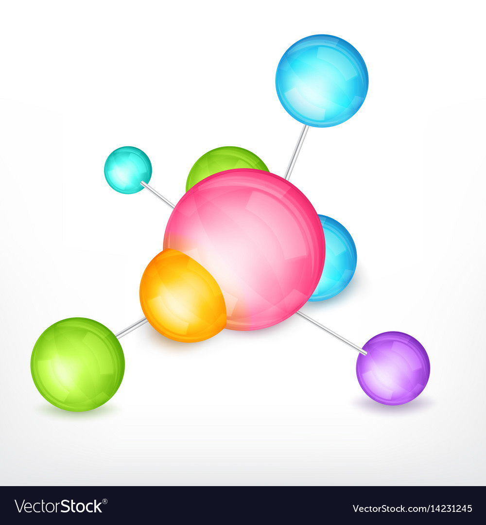 Abstract molecule design vector image