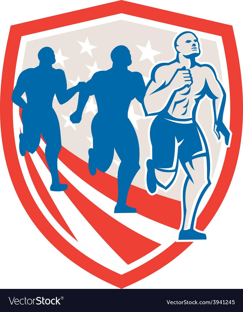 American Crossfit Runners USA Flag Retro