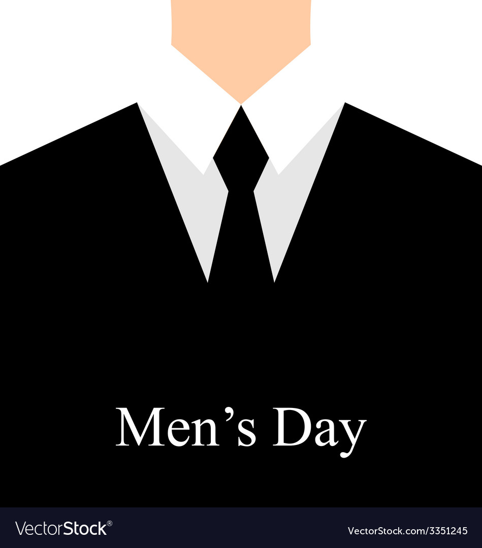 Celebration card for International mans day vector image