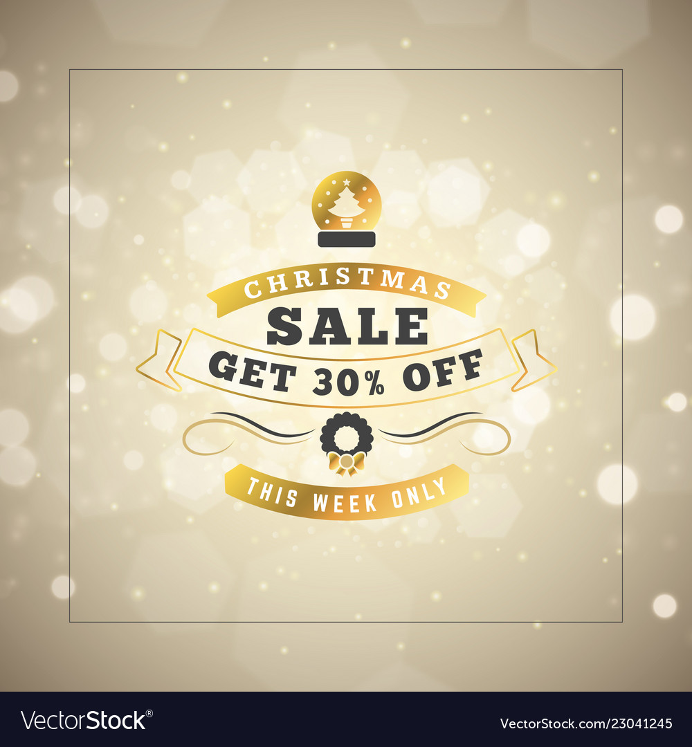 Christmas sale poster design holiday shopping