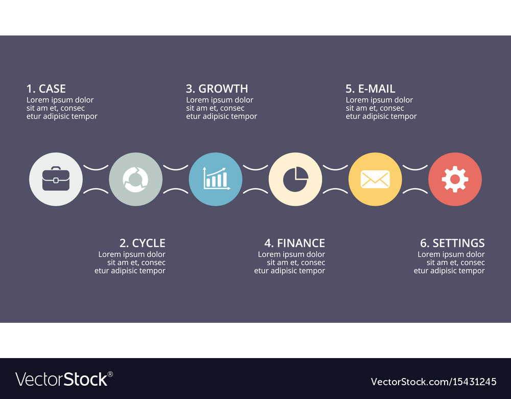 Circle timeline infographic cycle diagram vector image