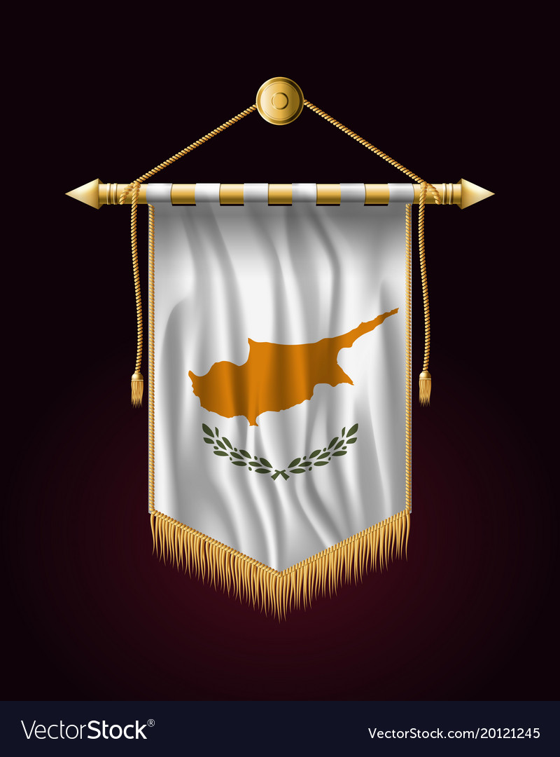 Flag of cyprus festive vertical banner wall