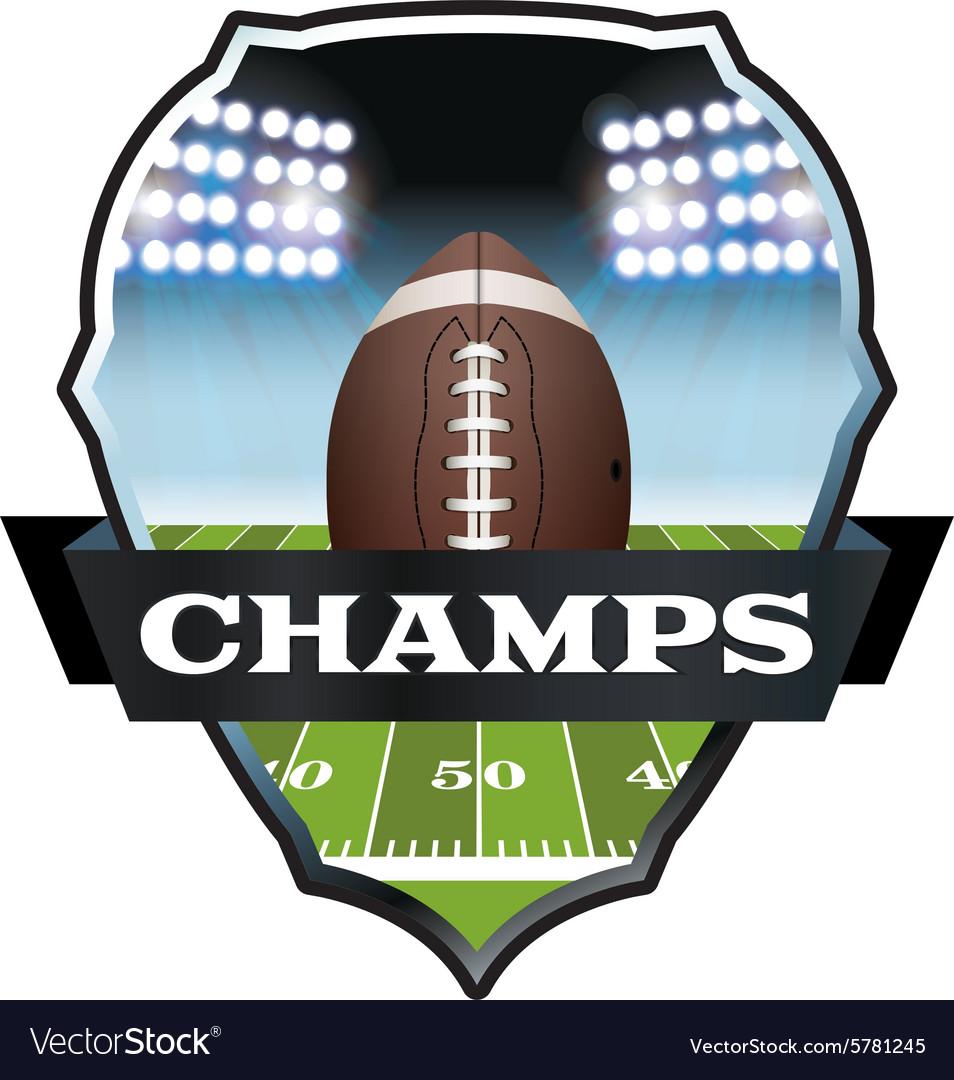 Football champs badge