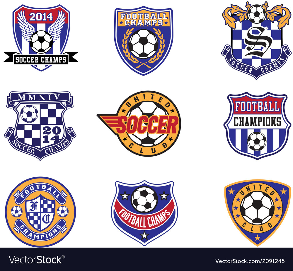 Football Soccer Badges Patches and Emblem