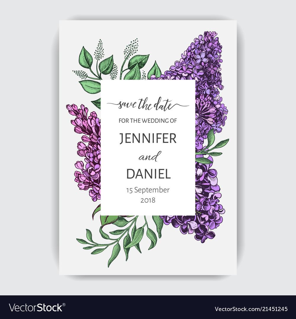 Hand drawn invitation for the wedding card
