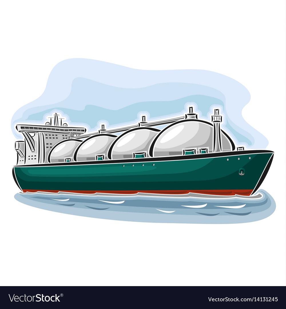 Lng tanker vector image