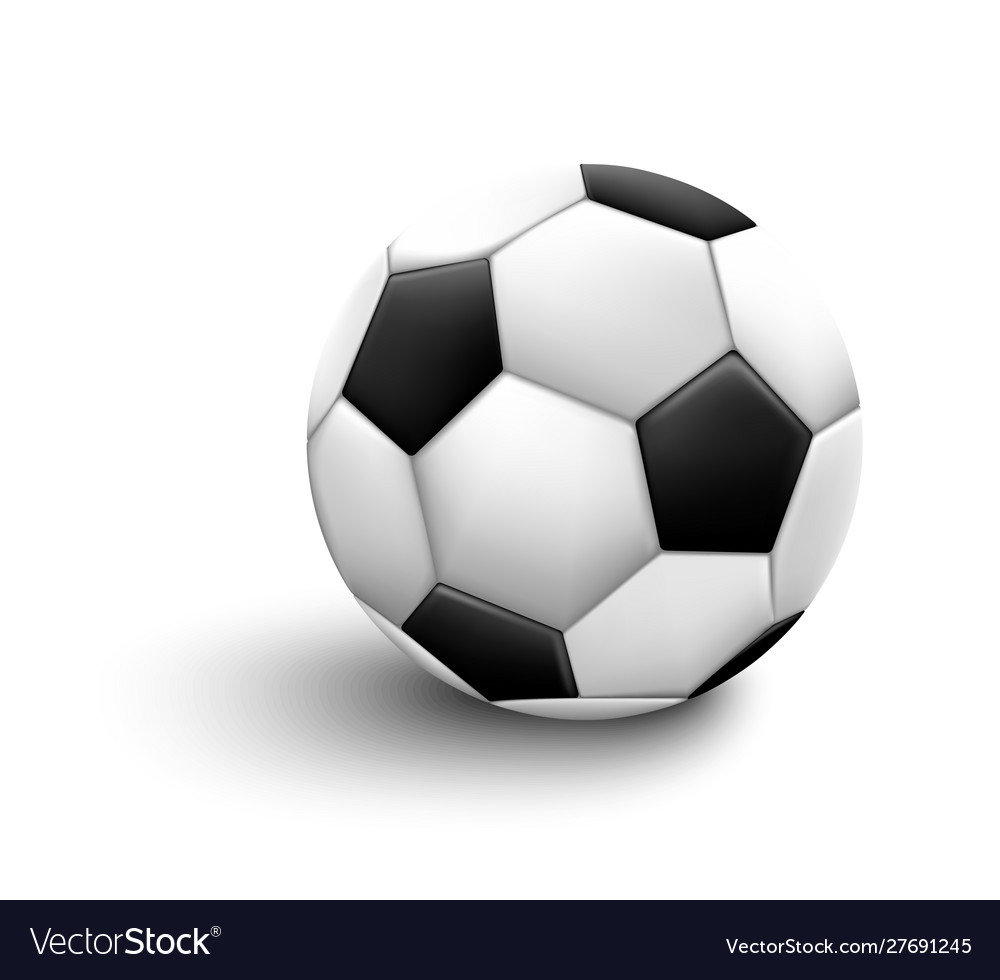 Soccer ball isolated on white background sport