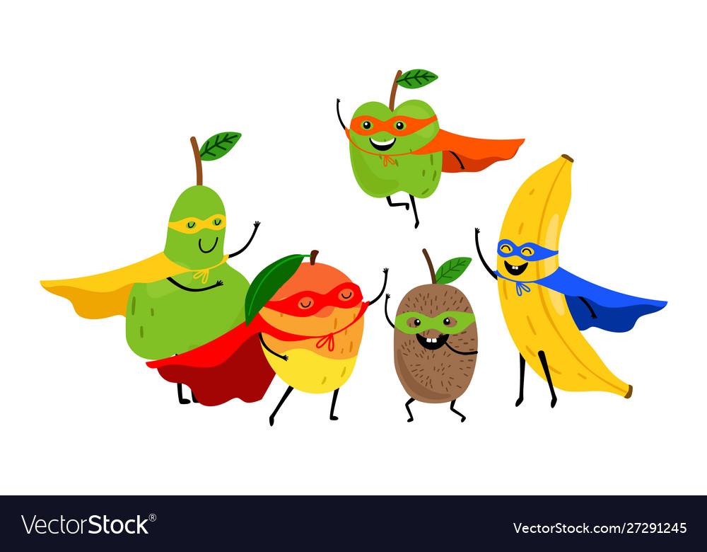 Superhero fruits team