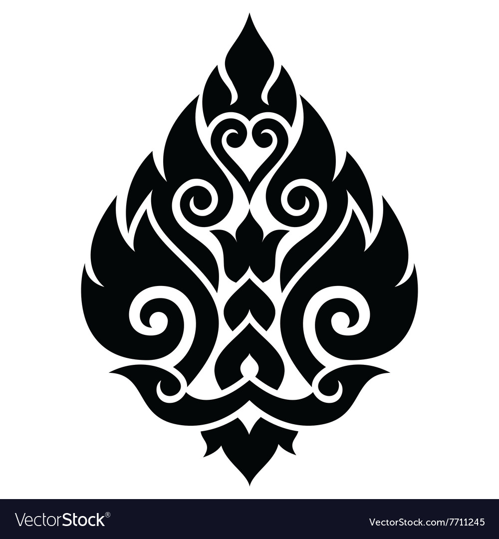 Thai art pattern traditional design form thailand vector image