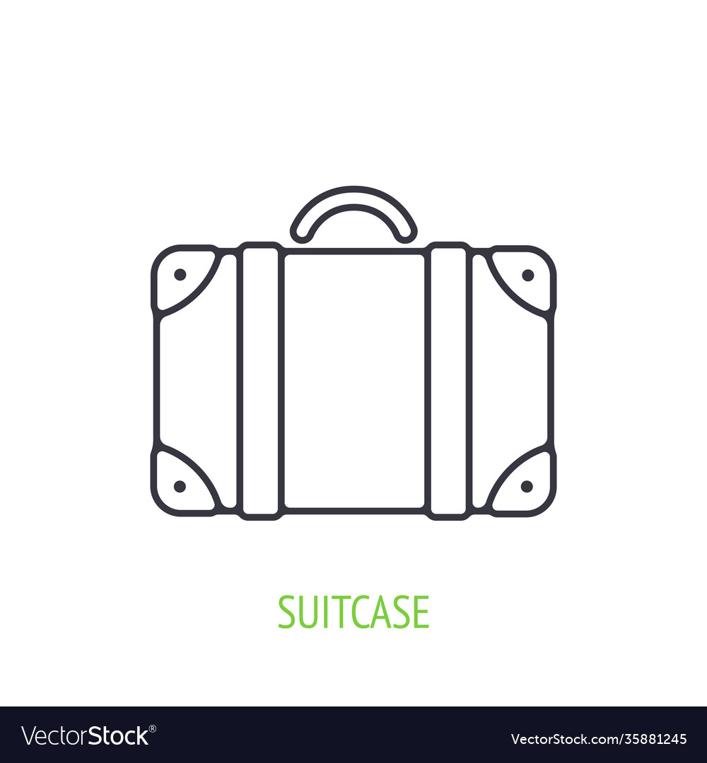 Traveling suitcase outline icon