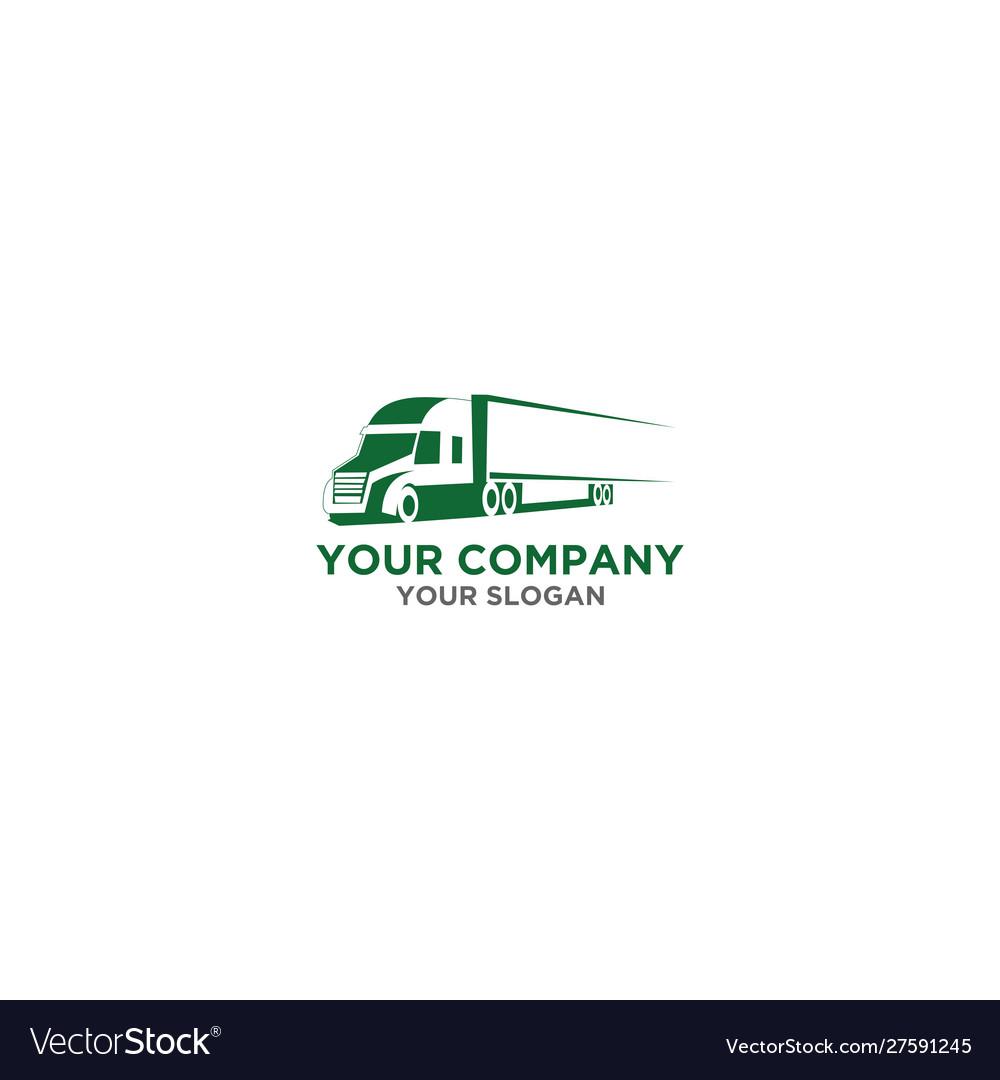 Trucking logistic logo design