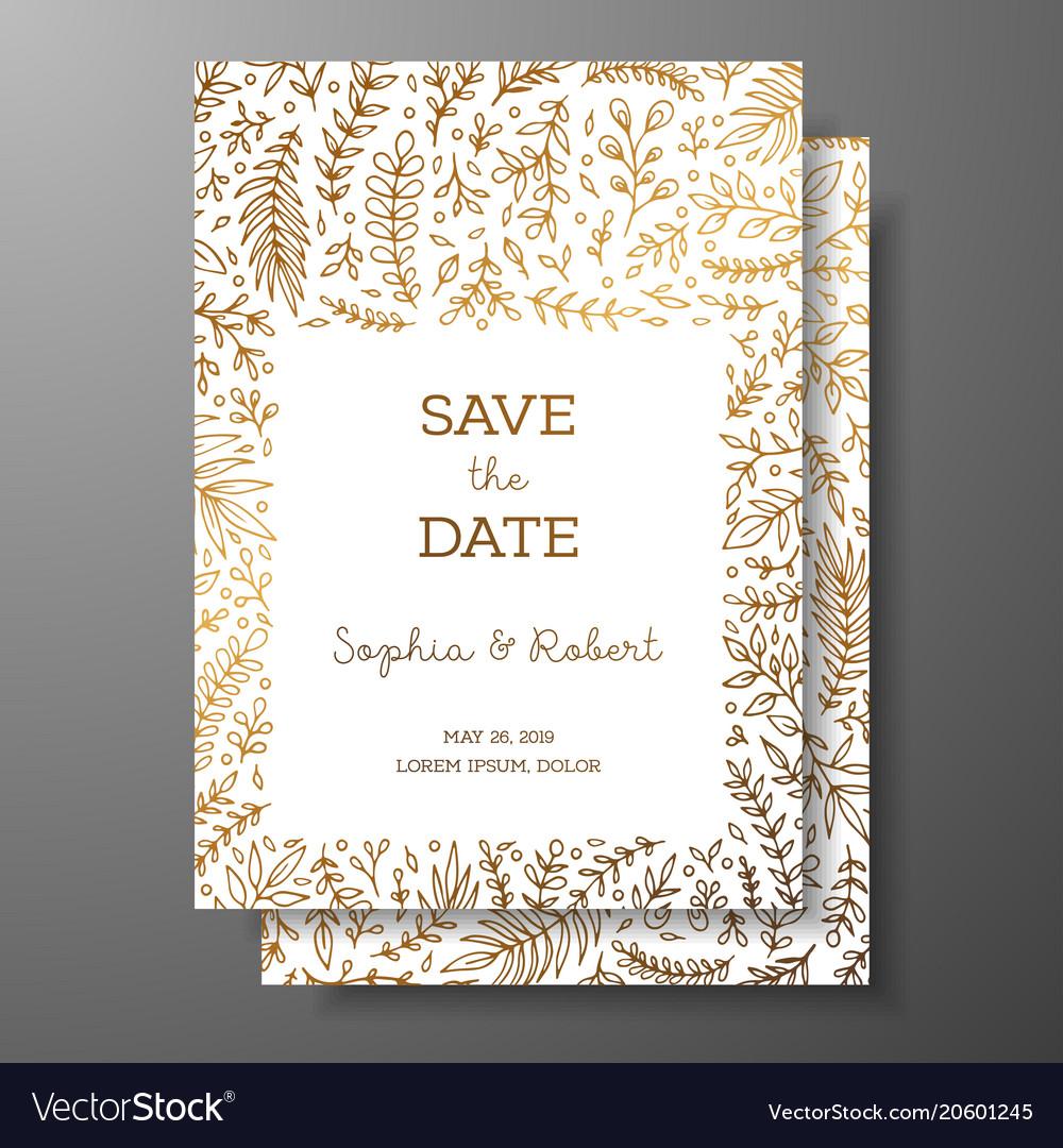 Wedding vintage invitationsave date card