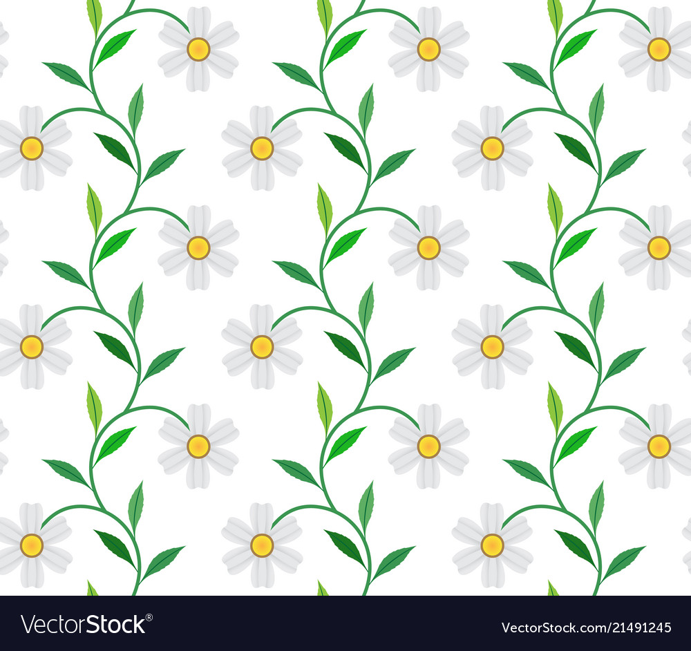 White flower and leaves on green background