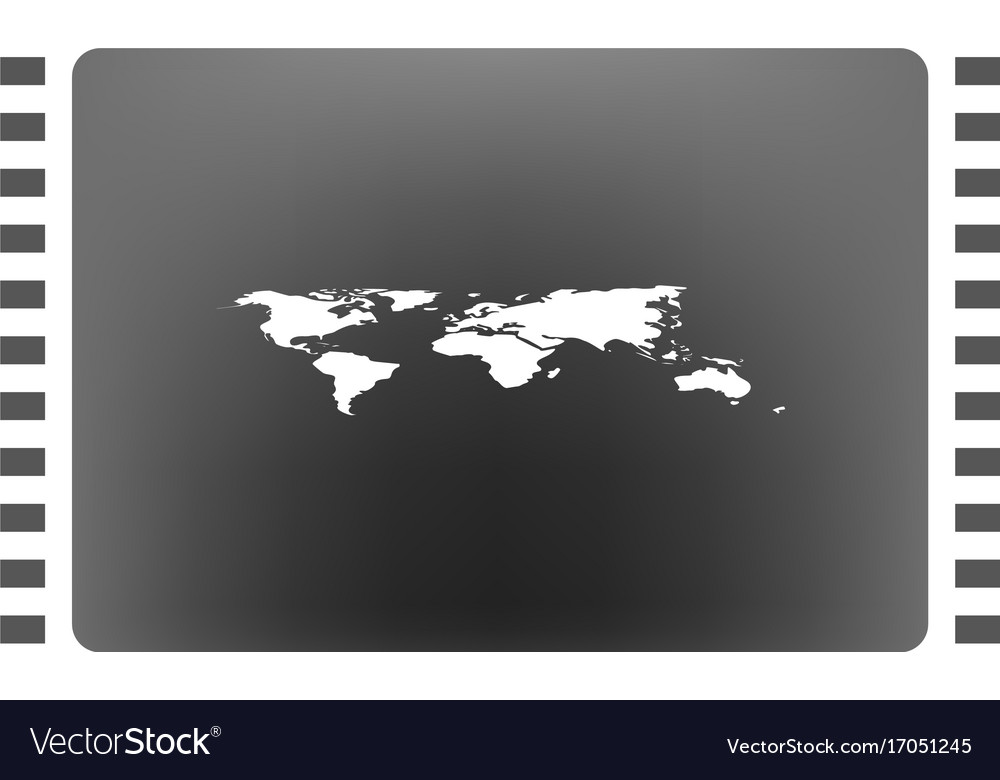 World map with pin