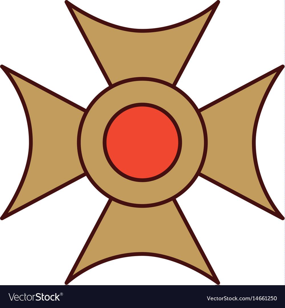 Christian cross emblem icon