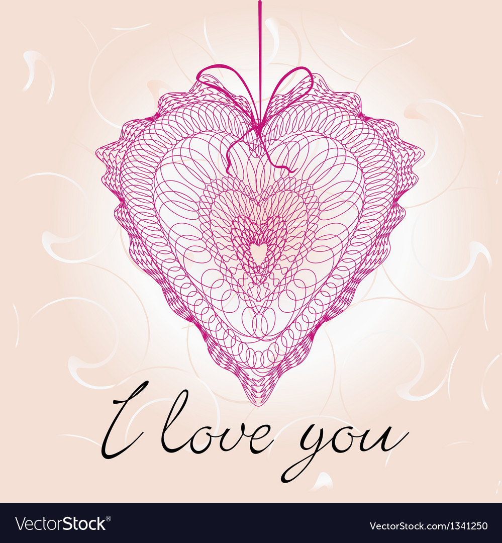 Greeting Cards With Heart Shape Royalty Free Vector Image