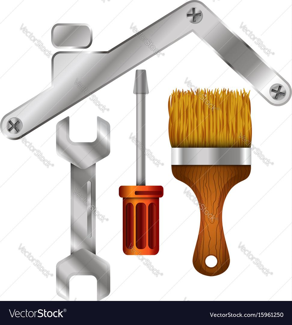 Home repair tool symbol for business