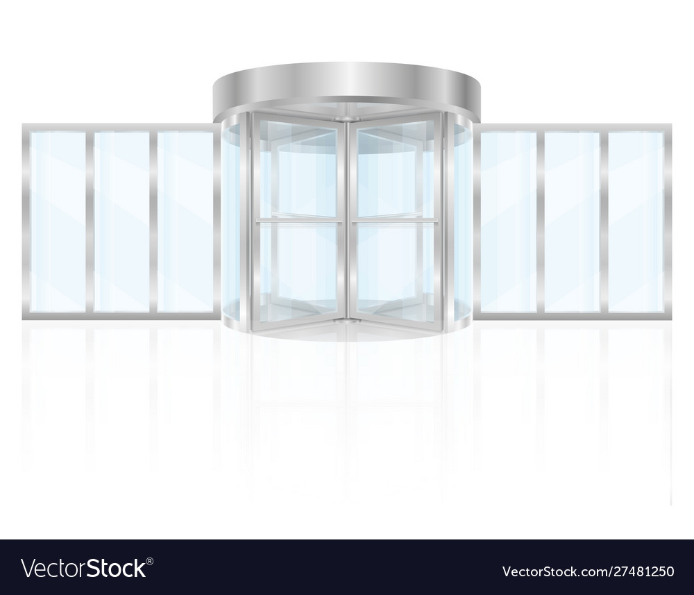 Metal revolving doors to enter building stock