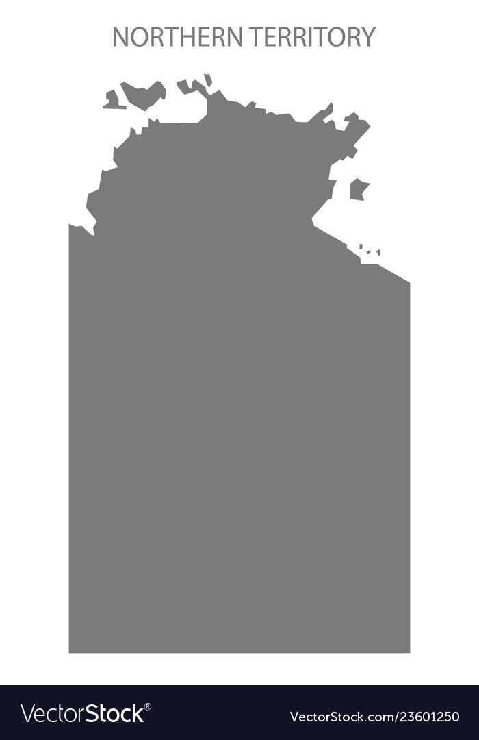 Australia Map Grey.Northern Region Australia Map Vector Images 68