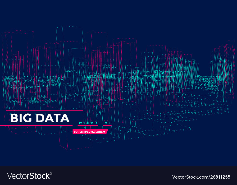 3d big array data backgrounds with points grid