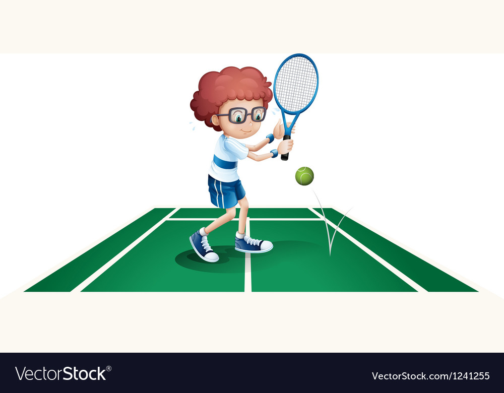 An athletic boy vector image