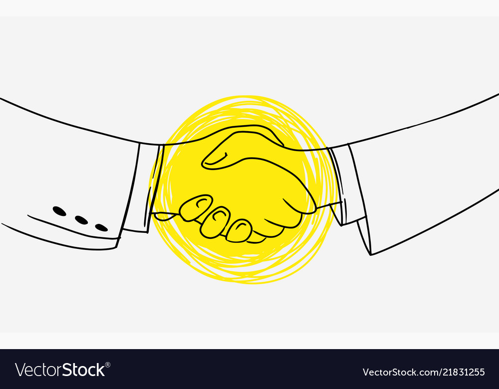 Business handshake picture contains idea of