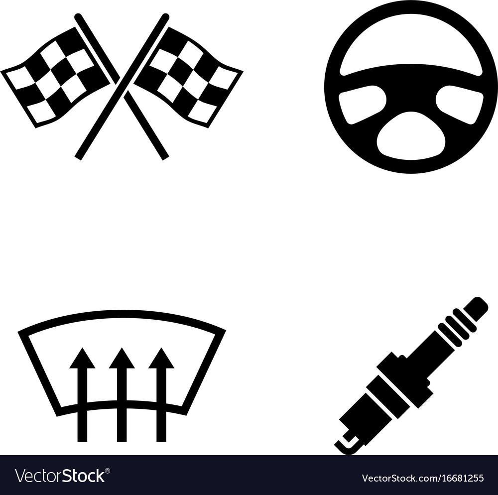Car parts simple related icons Royalty Free Vector Image