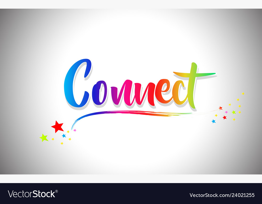 Connect The Colors >> Connect Handwritten Word Text With Rainbow Colors