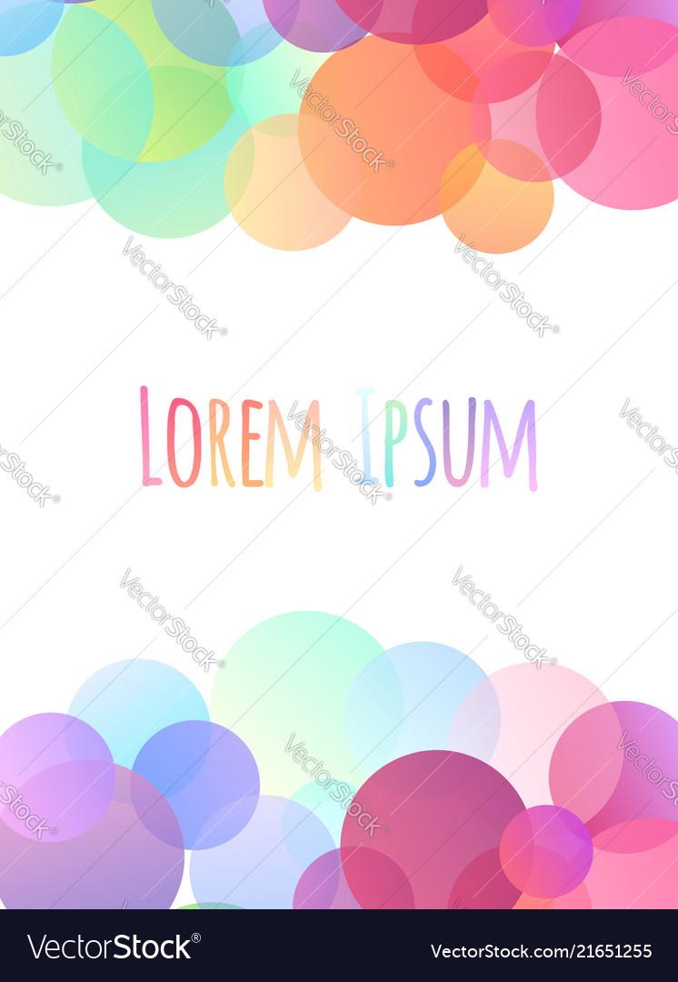 Greeting card with festive multicolored confetti