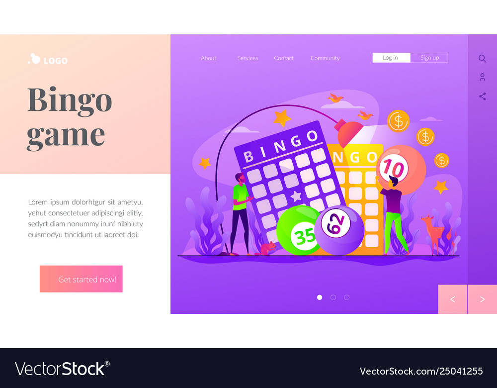 Lottery game landing page template