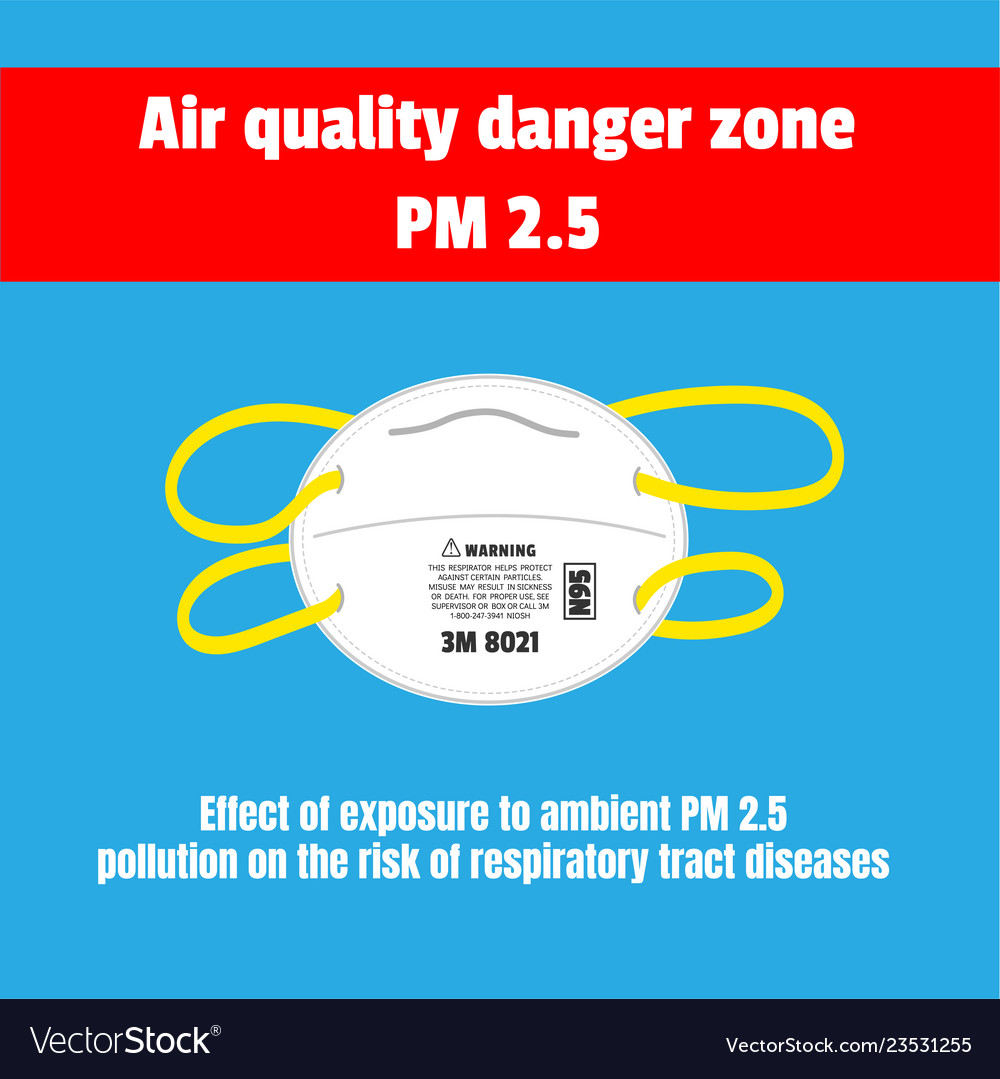Protective mask for air quality danger zone pm 25