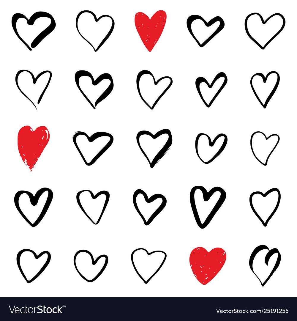Set hearts