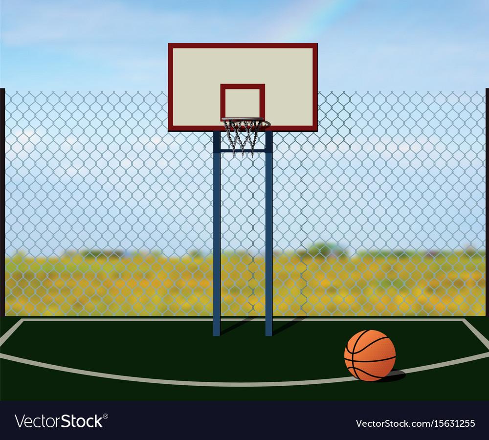 Street basketball vector image