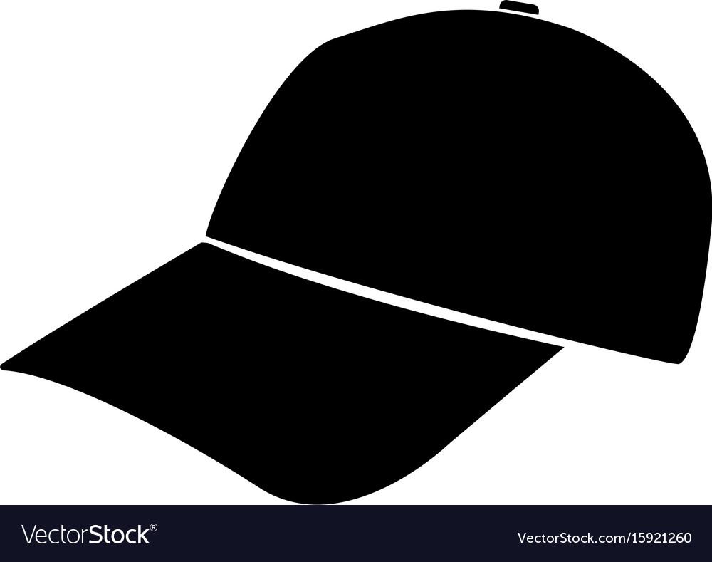 4edabaa77e3a Baseball cap black color icon Royalty Free Vector Image