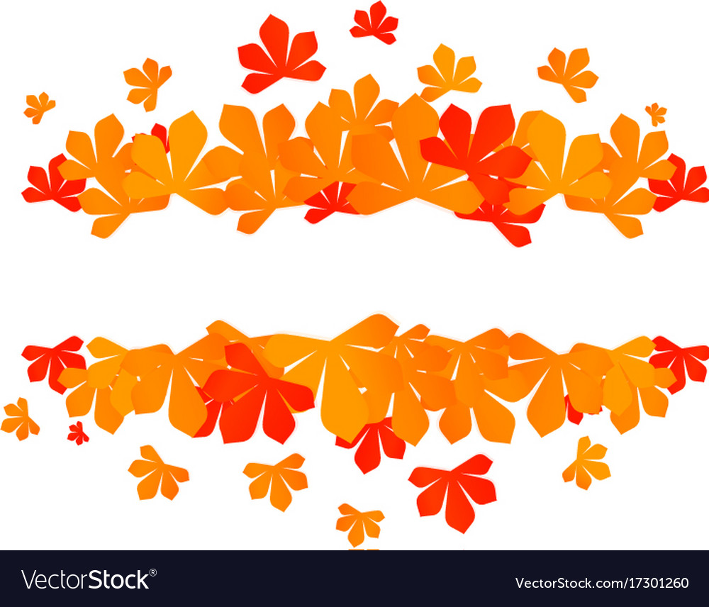 Colorful autumn leaves red autumn sale frame