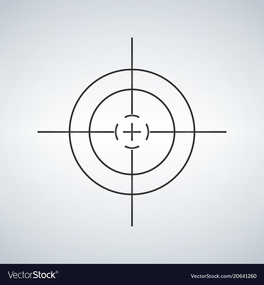 Crosshair reticle viewfinder target graphics vector image