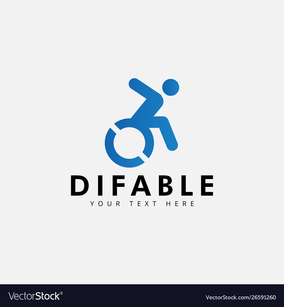 Difable different ability logo design template