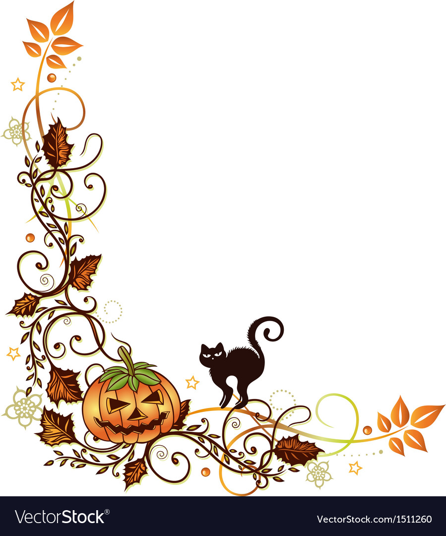 Halloween border vector image