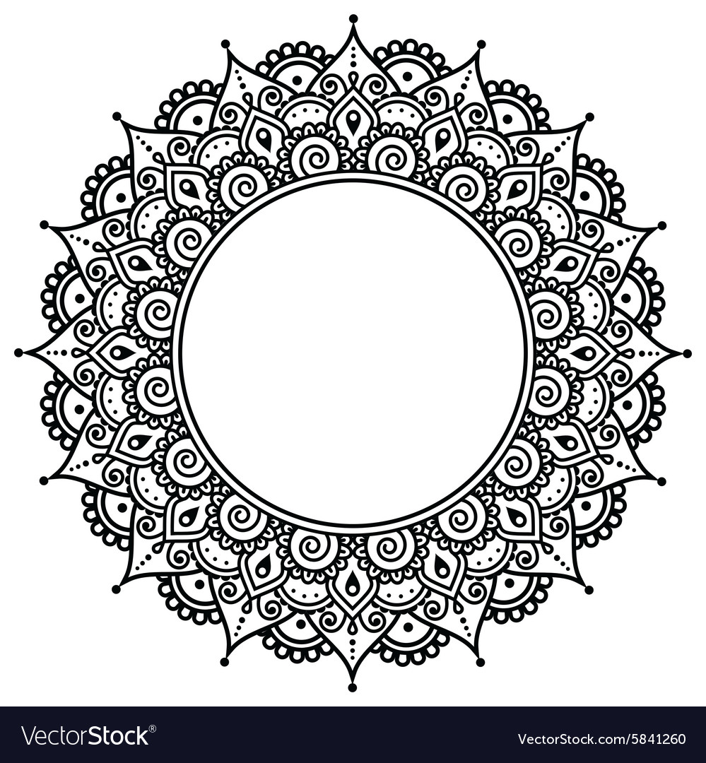 Mehndi Indian Henna Tattoo Pattern Or Background Vector Image