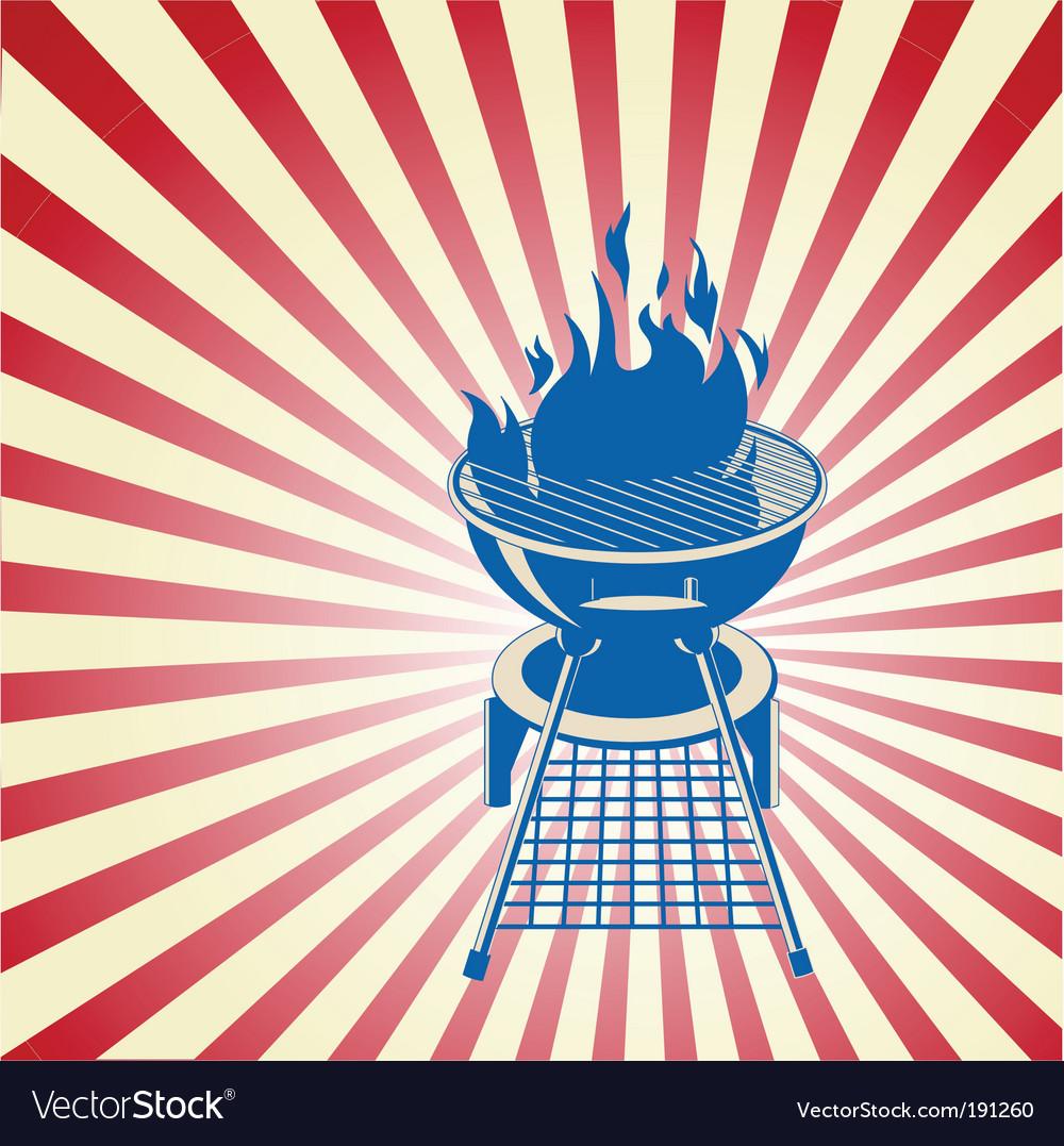 Patriotic barbeque vector image