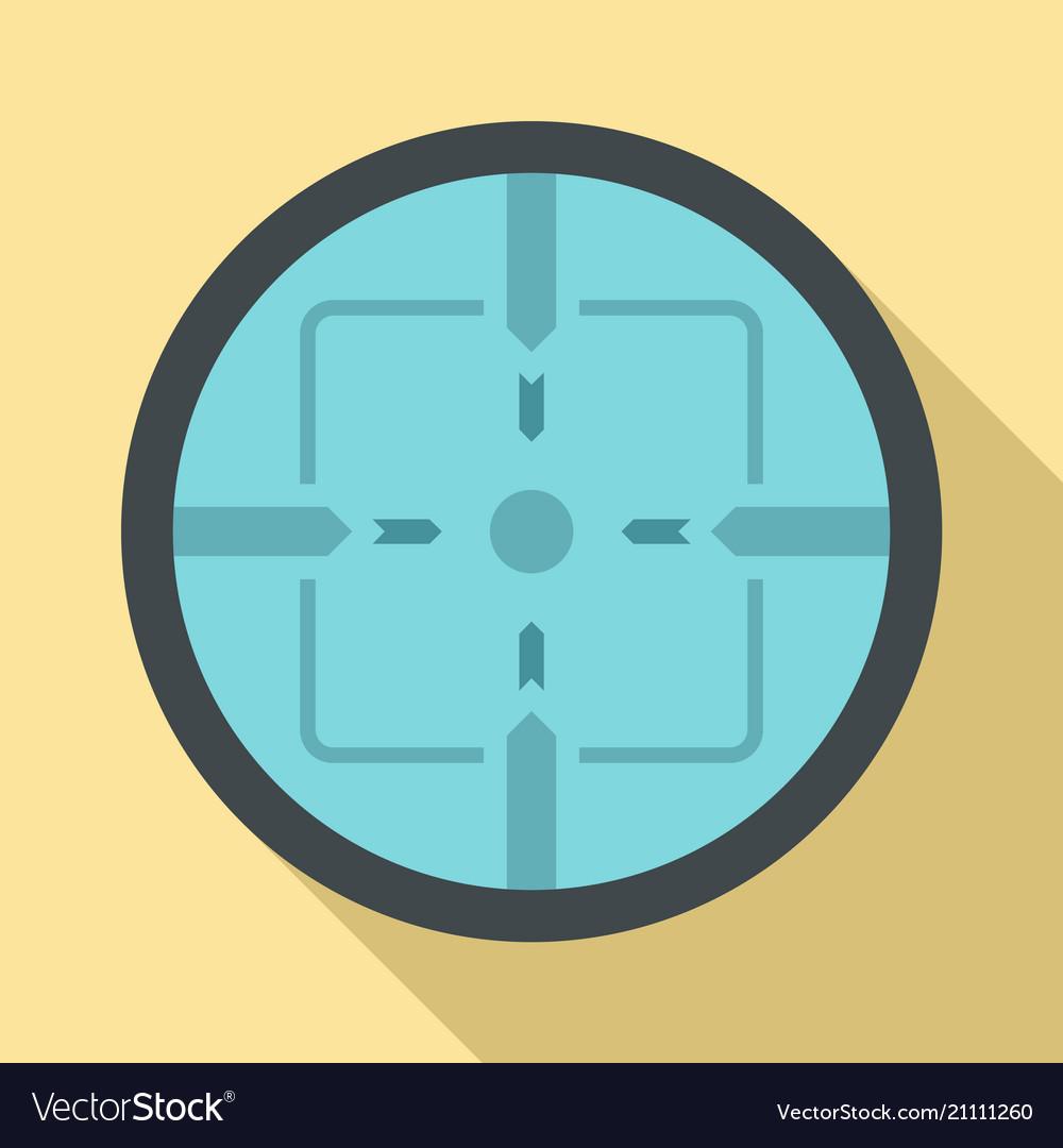 Sniper elite aim icon flat style